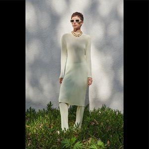 New Zara Set Knit Top+Pants Green